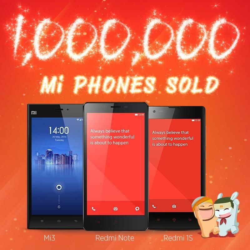 1 million xiaomi