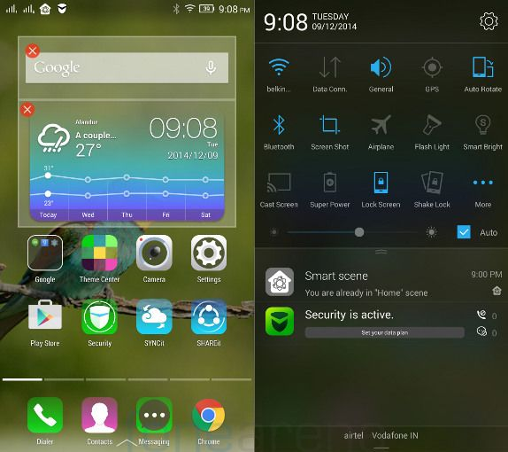 Lenovo Vibe X2 Home and Notifications