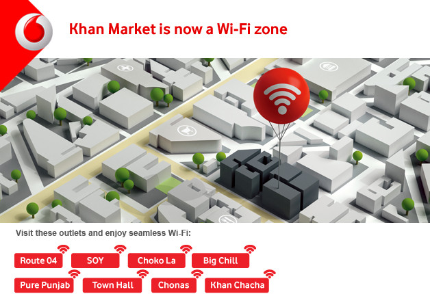 Vodafone offers free Wi-Fi in Delhi's Khan Market area for its own