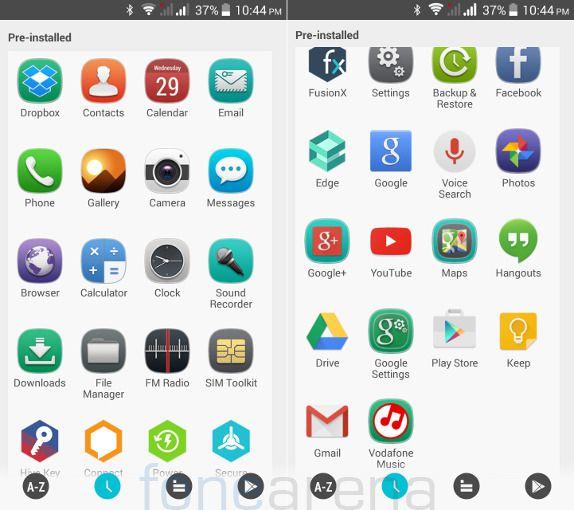 Xolo Omega 5.0 Apps