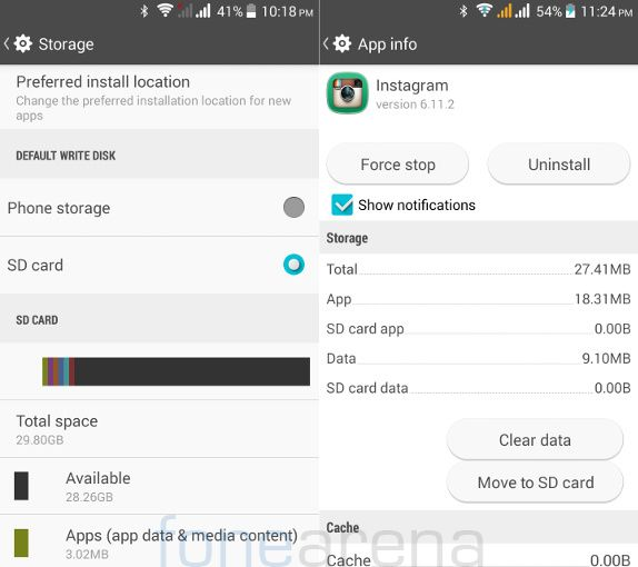 Xolo Omega 5.0 Default Write Disk and App to SD