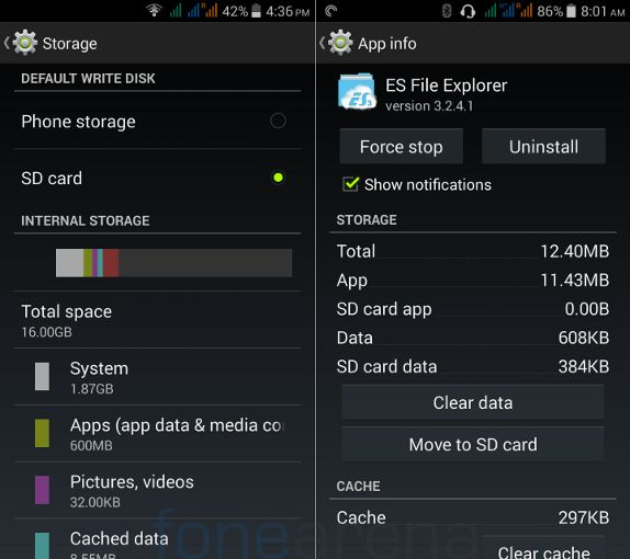 Acer Liquid E700 Default disk and Move to SD