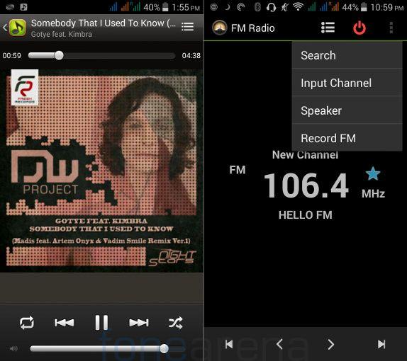 Acer Liquid E700 Music Player and FM Radio