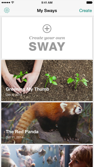 Sway app iPhone