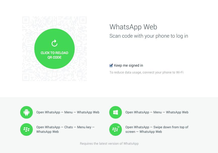 whatsapp pc no qr code