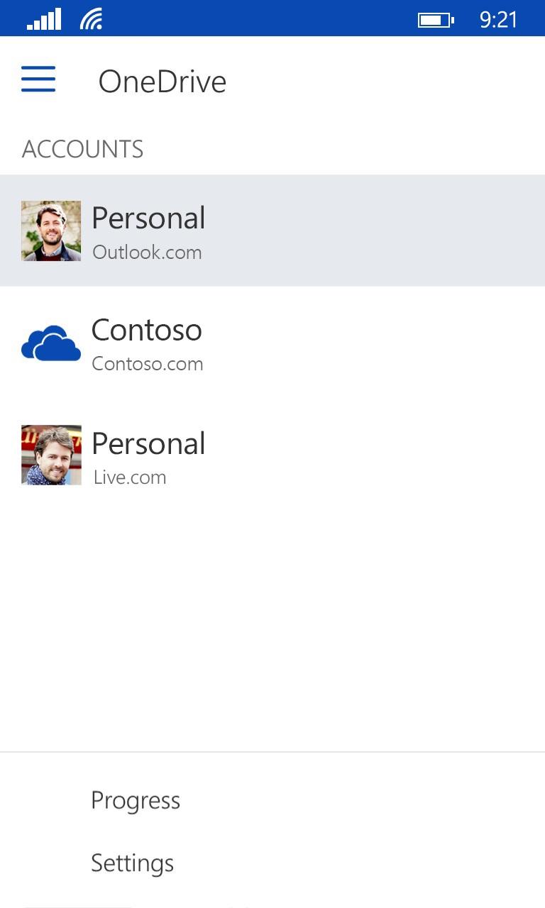 OneDrive Windows app