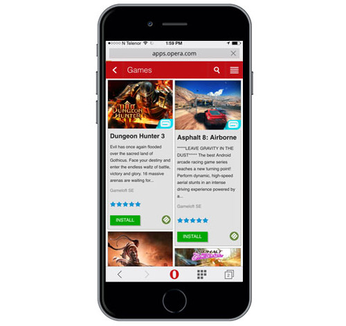 Gameloft to launch its games on Opera Mobile Store