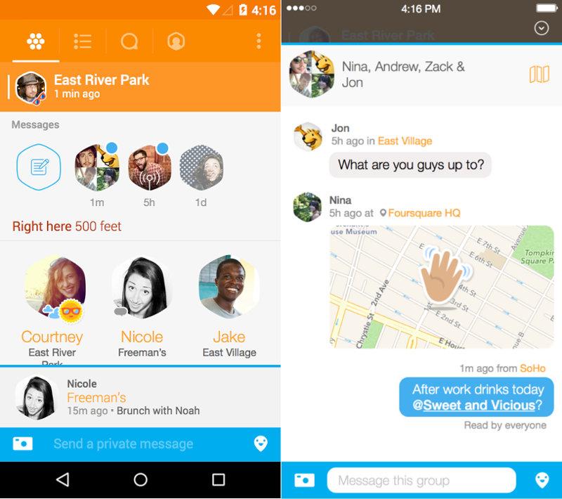 Swarm by Foursquare Messages
