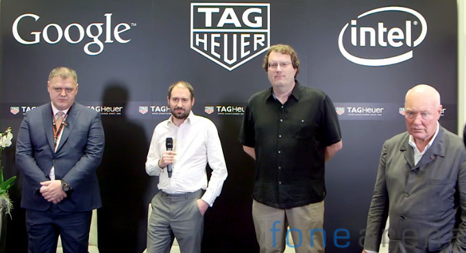 TAG Heuer, Google, Intel Smartwatch announcement