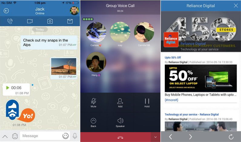 Reliance Jio launches Jio Chat with messaging, voice and