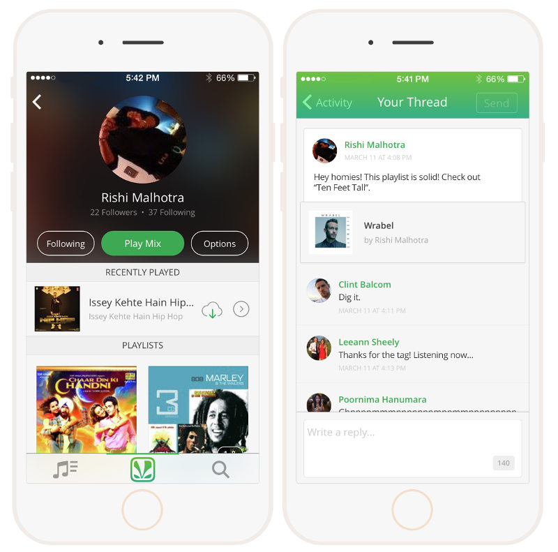 Saavn for Android and iOS updated with Social features
