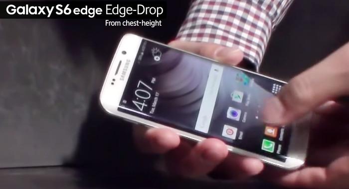 Samsung Galaxy S6 edge drop test