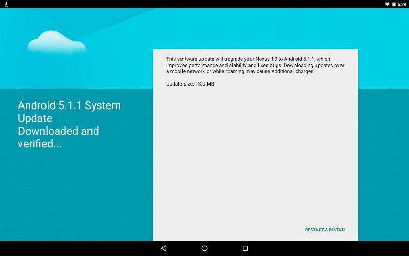Android 5.1.1 Nexus 10