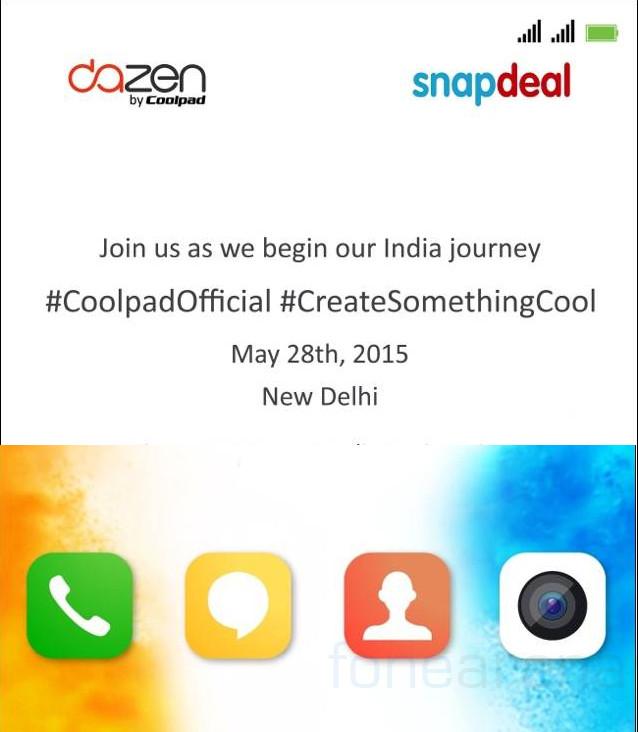 Coolpad Dazen India launch Invite