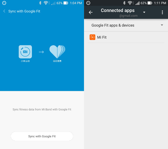 Xiaomi Mi Fit app for Mi Band updated with Google Fit support