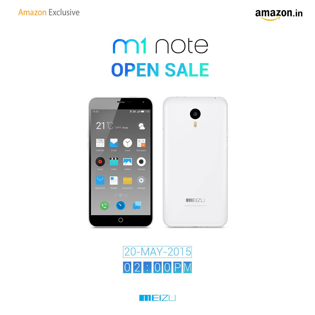 Meizu M1 Note to be available in India starting May 20th – Exclusive to Amazon