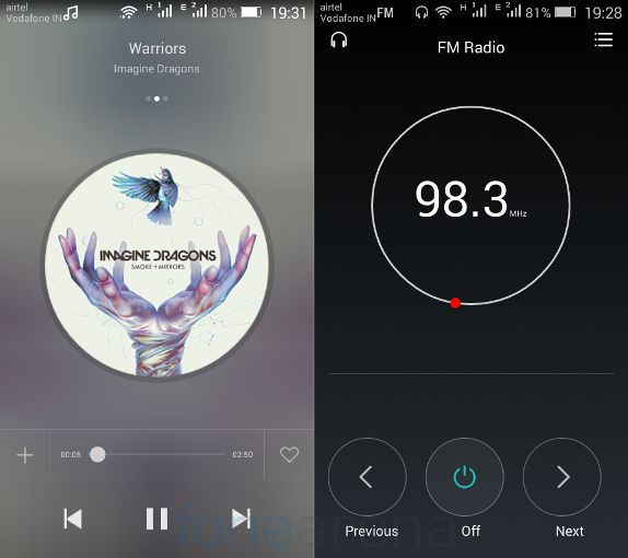 Huawei Honor Bee Music Player and FM Radio