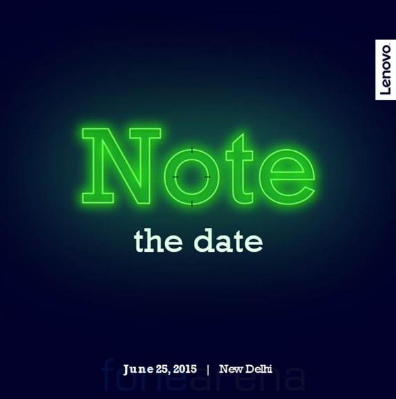 Lenovo K3 Note India launch invite