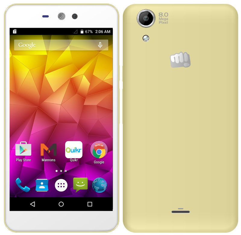 Micromax Canvas Selfie Lens Q345 with 5-inch HD display, Clip on