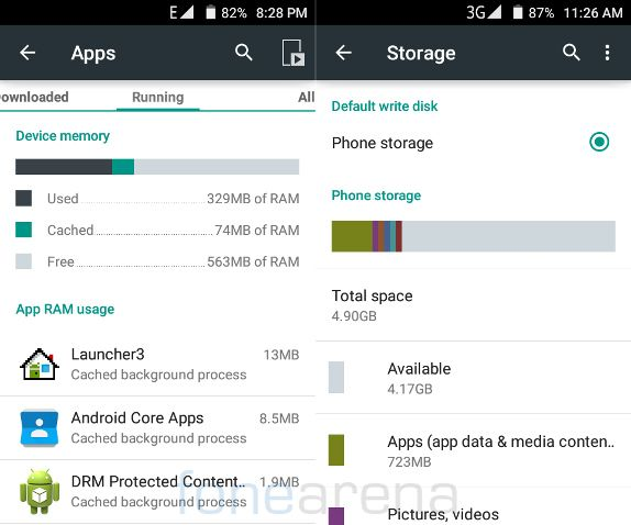 Micromax Unite 3 RAM and Internal Storage