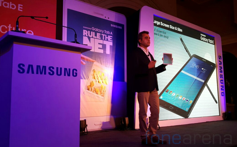 Samsung Galaxy Tab A and Tab E India launch