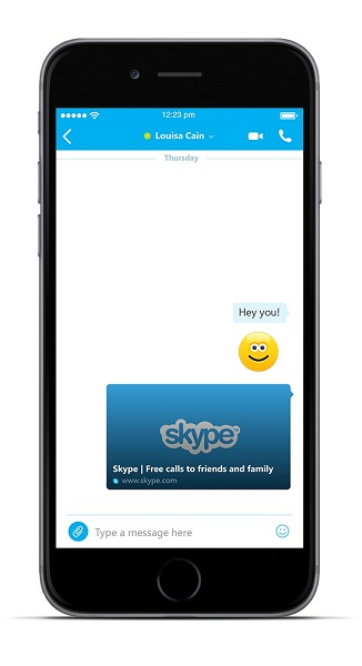 skype app for iphone skype for iphone updated with web links in previews for 6921