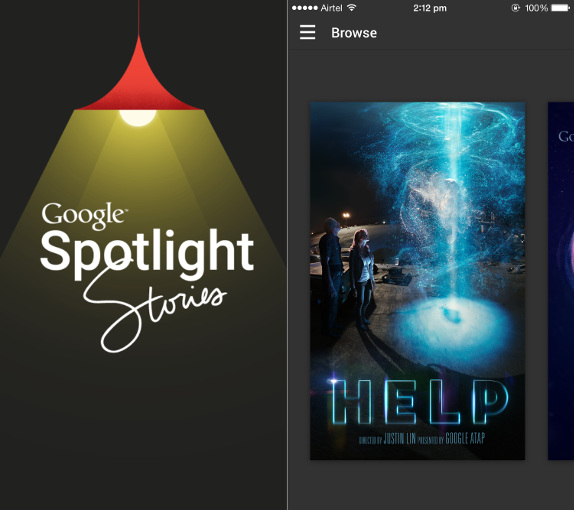 Google Spotlight Stories for iPhone