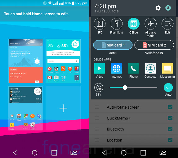 LG G4 Home and Notification