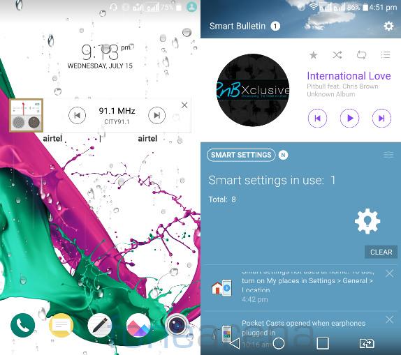 LG G4 Lock screen and Smart Bulletin