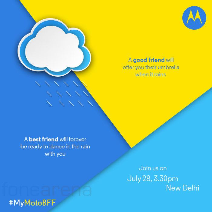 Motorola India launch invite July 28