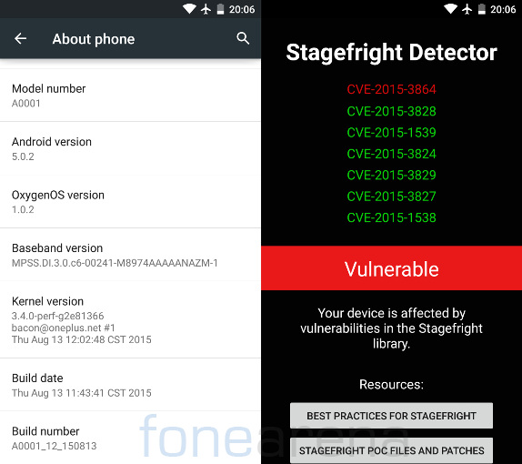 OnePlus One gets OxygenOS 1 0 2 update with Stagefright