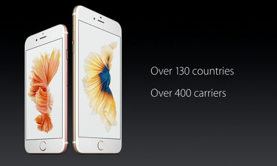 Apple iPhone 6s and 6s Plus countries