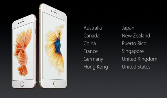 Apple iPhone 6s and 6s Plus launch countries