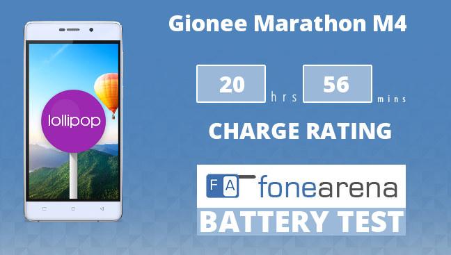 Gionee Marathon M4 FA One Charge Rating