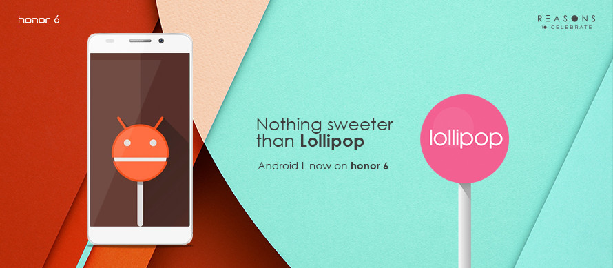 Huawei Honor 6 Android 5.1 Lollipop