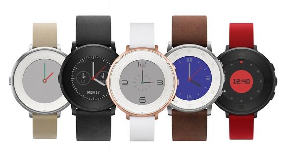 Pebble circular smartwatch