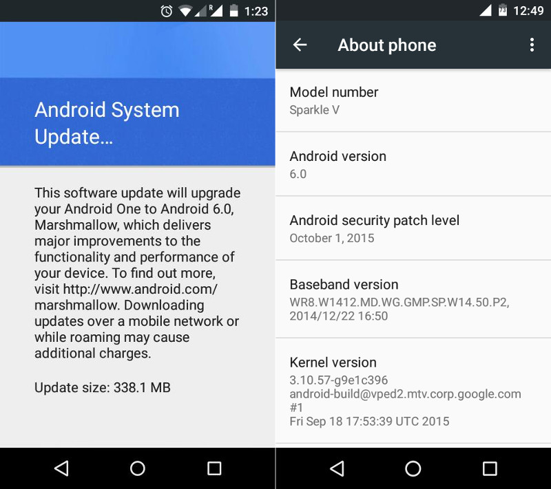 Android 6.0 Marshmallow Android One
