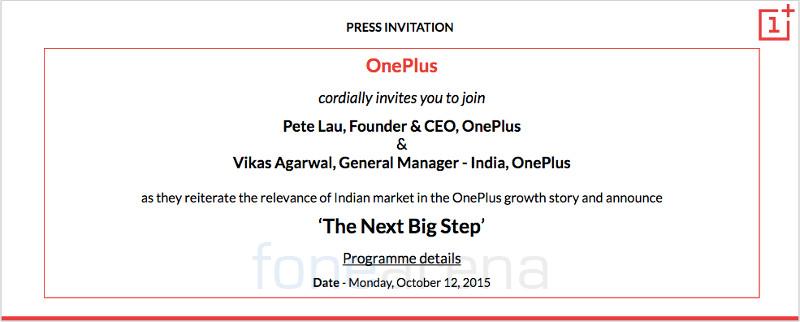 OnePlus event India Oct 12