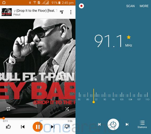 Samsung Galaxy J2 Music and FM Radio