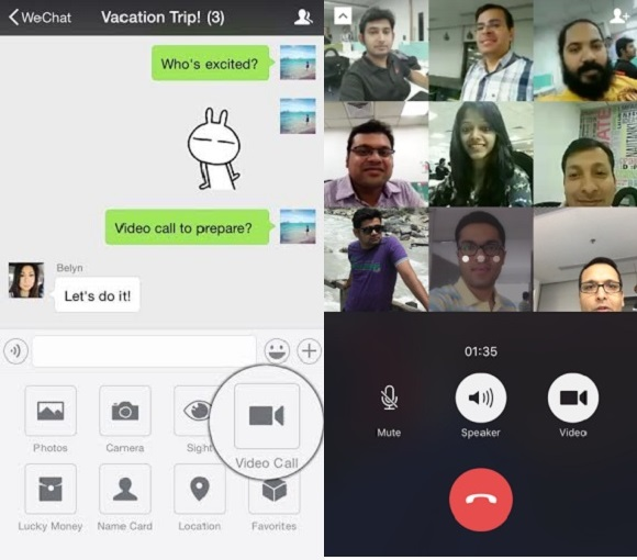 WeChat debuts free group video calling for its Android and iOS apps