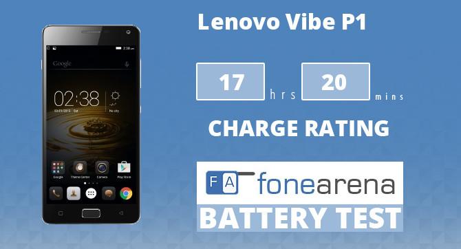 Lenovo Vibe P1 FA One Charge Rating