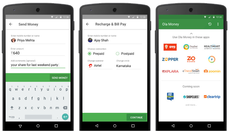 Ola Money app released, offers money transfer, bill payments, mobile