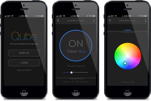 Qube Smart Bulb app