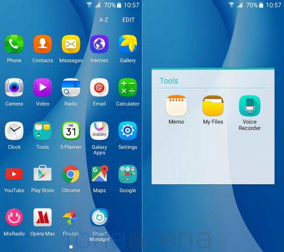 Samsung Galaxy On7 Apps