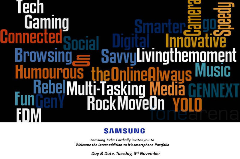 Samsung India launch Invite Nov 3 2015