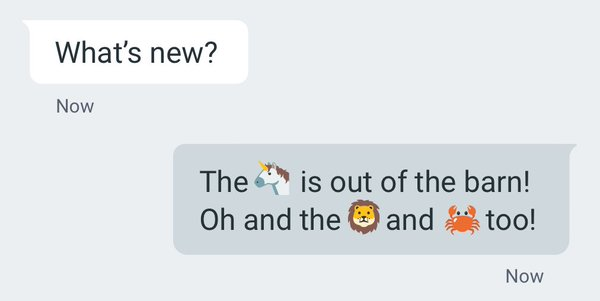 Android emojis