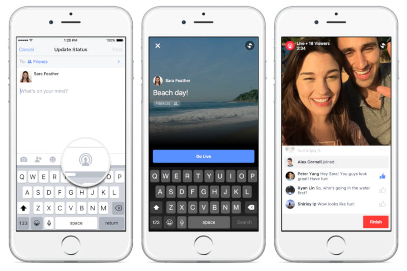 Facebook for iPhone Live Video
