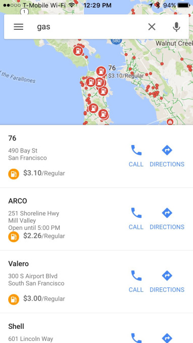 Google Maps for iOS gets offline navigation, gas prices and more