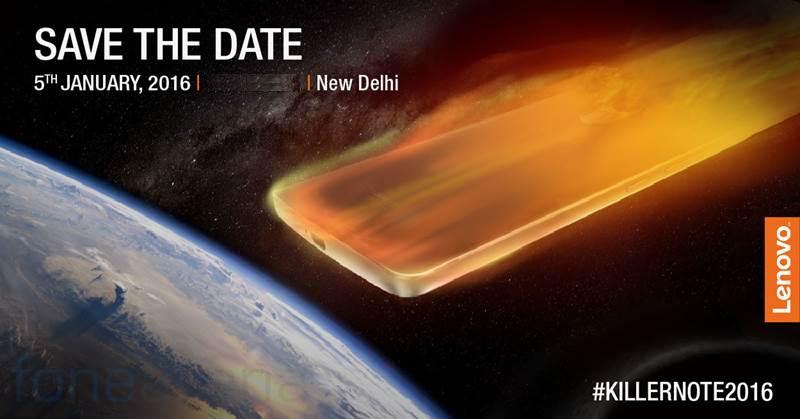 Lenovo K4 Note India launch invite
