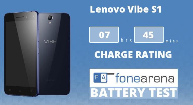 Lenovo Vibe S1 FA One Charge Rating